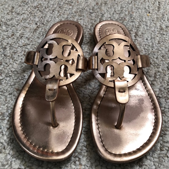 cf7f0903025cc3 Rose gold Tory Burch Miller leather Sandals 6.5. M 5c44a7d53e0caaac529b60ce